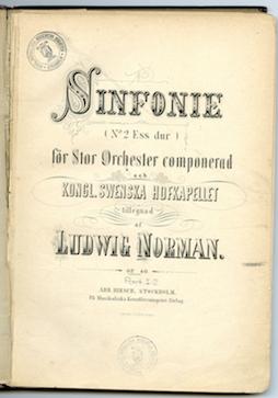 Titel page, Symphony no. 2.