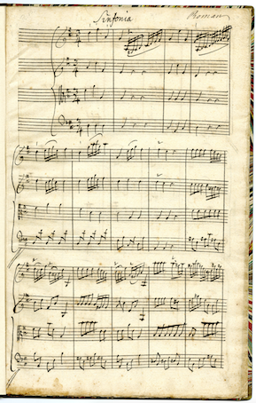 The opening of sinfonia no. 2 in D flat major.