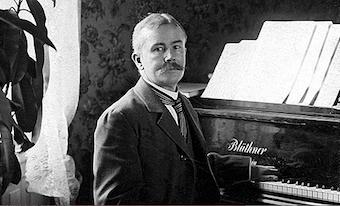 Sjögren at his piano.